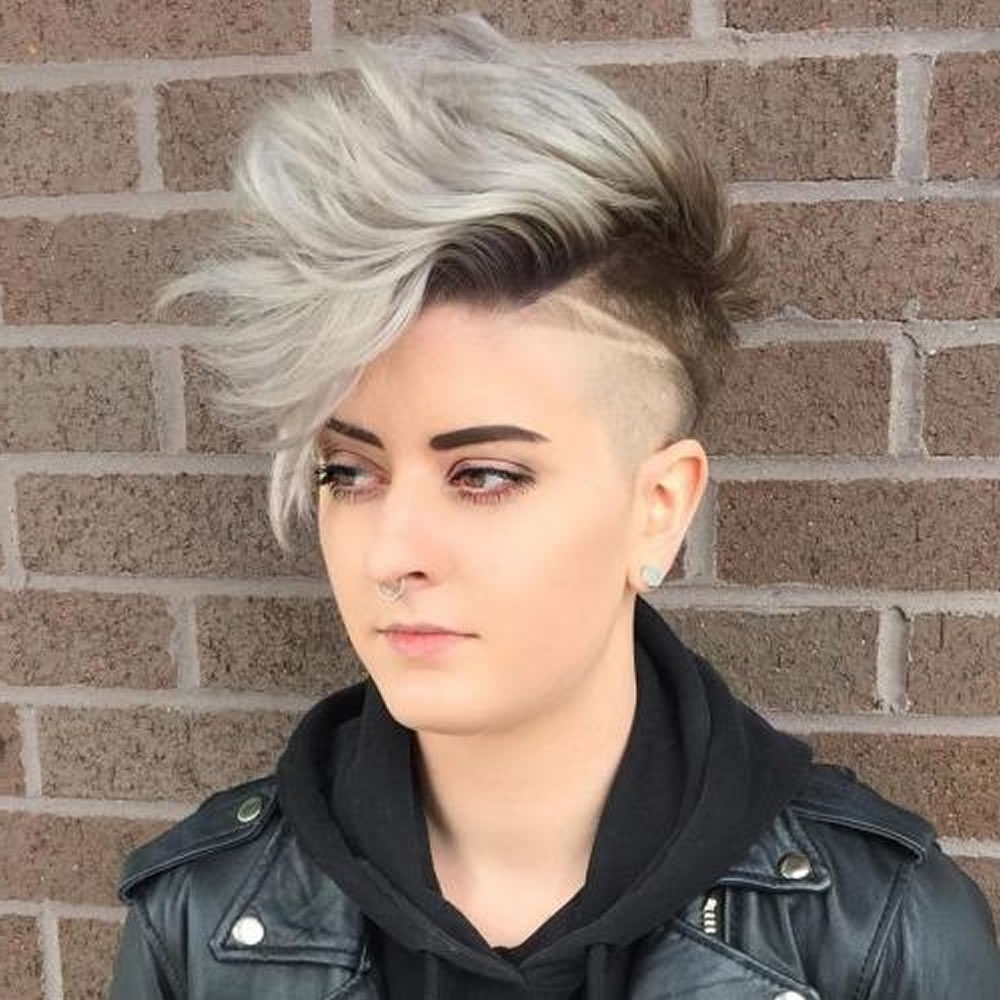 Undercut Short Pixie Hairstyles For Ladies 2018 2019 | Page 4 Of 11 Within Most Popular Edgy Pixie Hairstyles (View 15 of 15)