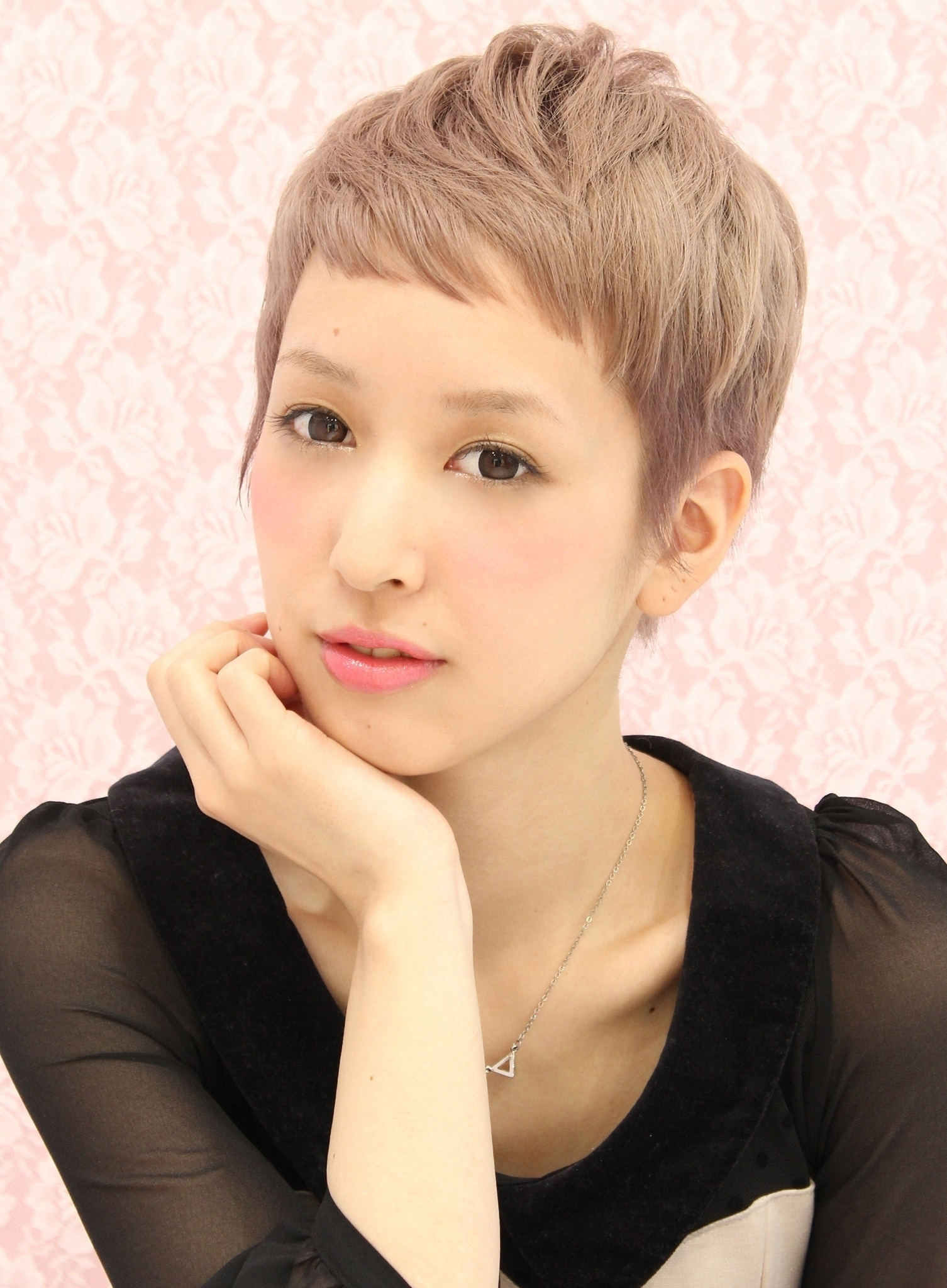 Showing Photos Of Short Pixie Hairstyles With Long Bangs View 5 Of