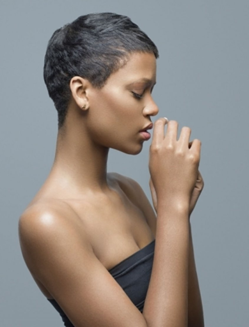 Image Gallery Of Short Pixie Hairstyles For Black Women View 15 Of