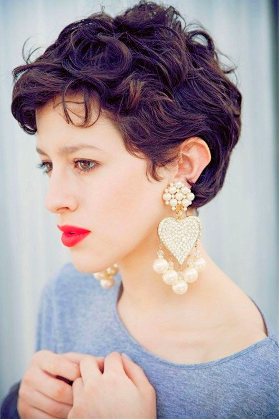 Very Short Wavy Hairstyles Short Curly Pixie Hairstyles Curly With Regard To Recent Pixie Hairstyles For Curly Hair (View 6 of 15)