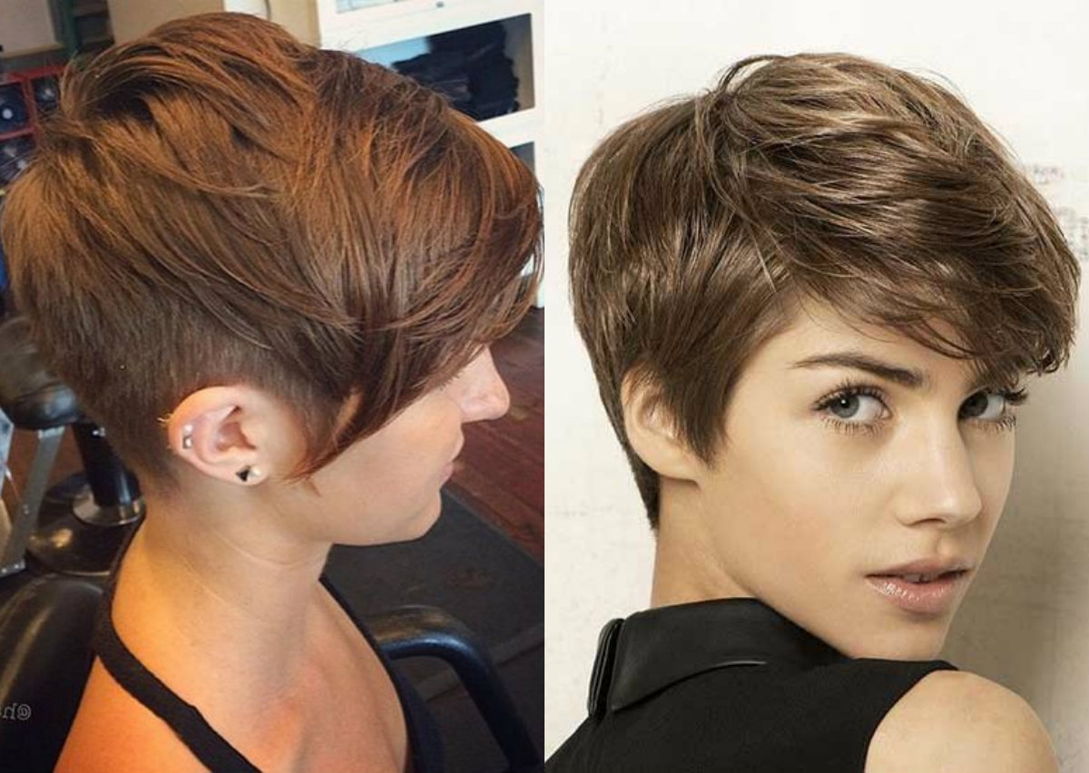 Vibrant Layered Pixie Haircuts 2017 | Hairdrome With Latest Brown Pixie Hairstyles (View 2 of 15)