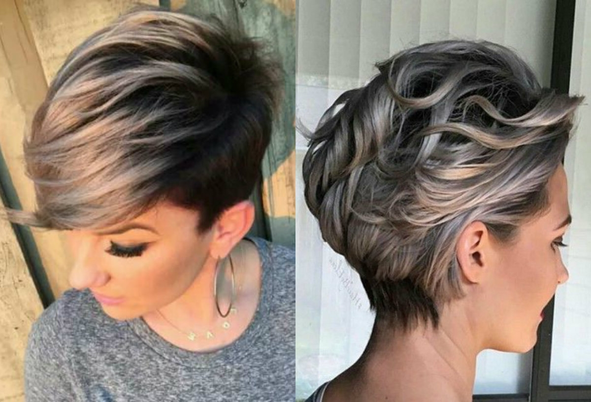 2018 Latest Pixie Hairstyles With Highlights
