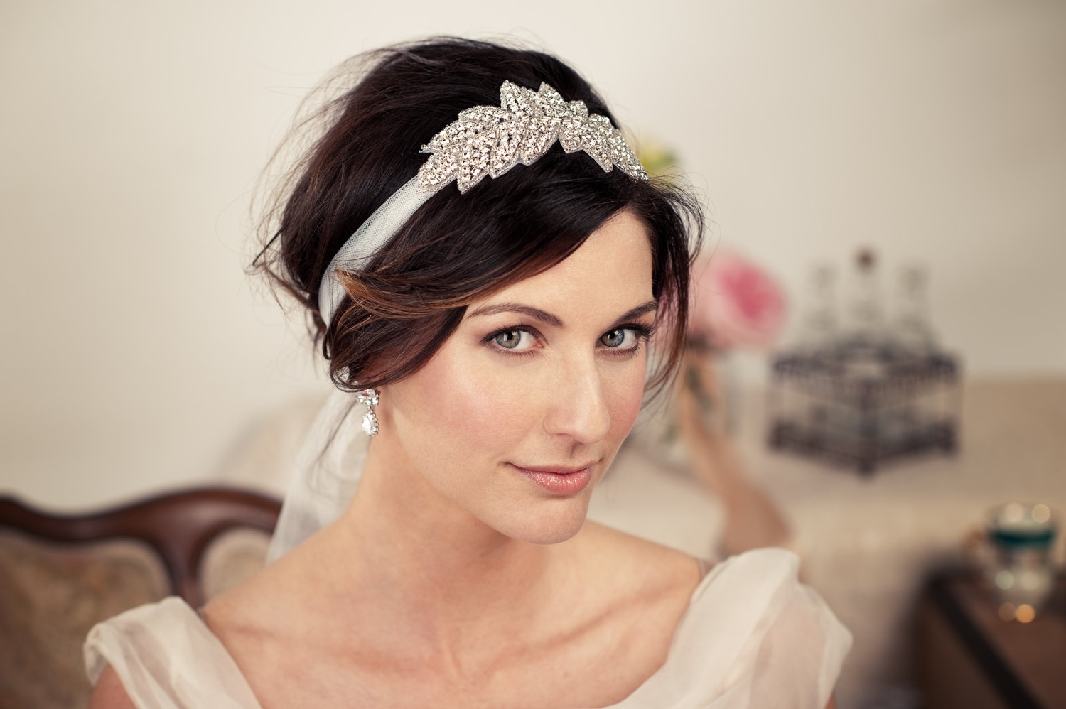 Wedding Hairstyles Bridal Hairstyles With Headbands Inside Most Current Pixie Hairstyles With Headband (View 12 of 15)