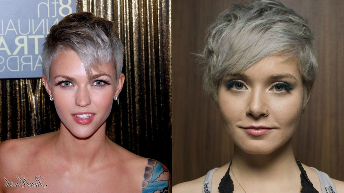 Winter Fit: Extravagant Silver Pixie Haircuts | Hairdrome For 2018 Pixie Hairstyles With Highlights (View 14 of 15)