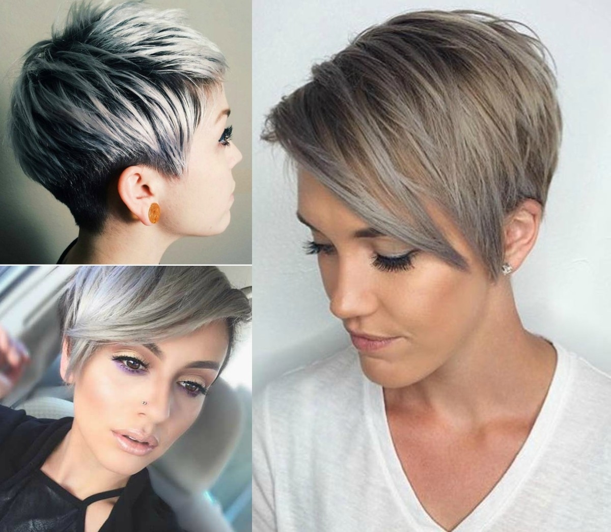 Featured Photo of Grey Pixie Hairstyles