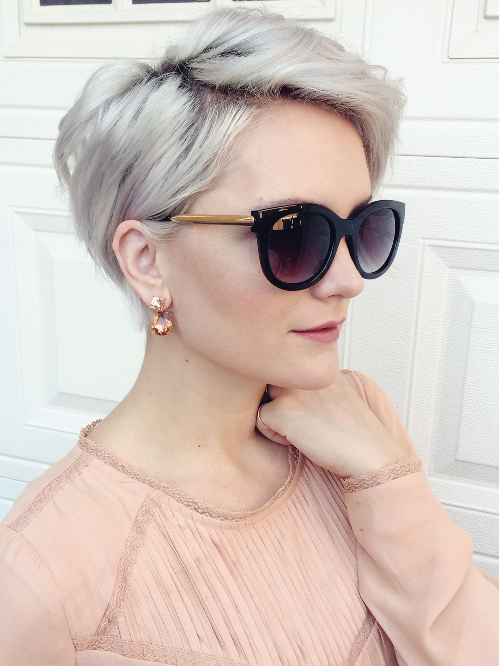Winter Fit: Extravagant Silver Pixie Haircuts | Hairdrome Regarding Most Recent Pixie Hairstyles With Glasses (View 13 of 15)