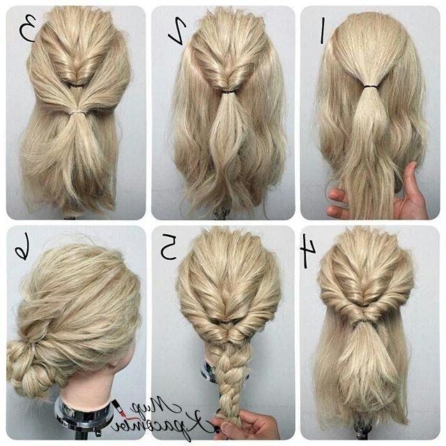 06 Cute Braided Hairstyles For Girls | Medium Length Hairstyles Regarding Most Current Easy Updo Hairstyles For Medium Hair (View 4 of 15)