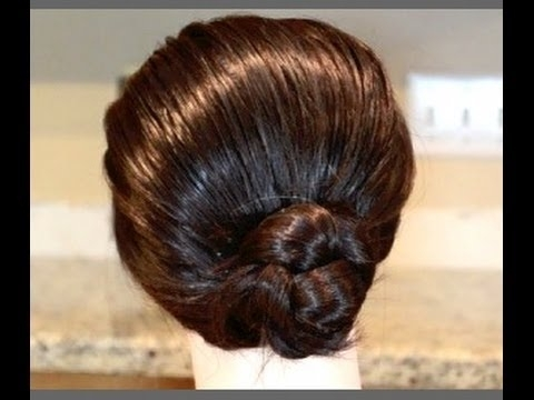 1 Minute Hairstyles, 2 Hairstyles For Wet Hair, Cute Braided Bun Throughout Most Recent Wet Hair Updo Hairstyles (View 2 of 15)