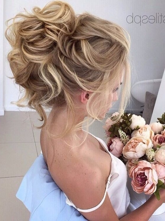10 Beautiful Wedding Hairstyles For Brides – Femininity Bridal With Regard To Latest Messy Updo Hairstyles (View 6 of 15)