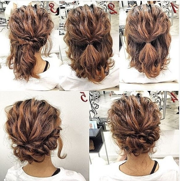 10 Best And Easy Hairstyle Ideas For Summer 2017 | Short Hair 2016 Intended For Latest Quick Updo Hairstyles For Curly Hair (View 1 of 15)