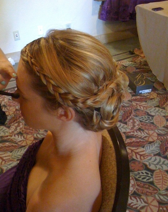 10 Braided Updo Hairstyles For 2014: Delicate Braided Updos For Prom Inside Most Recent Braided Hair Updo Hairstyles (View 1 of 15)