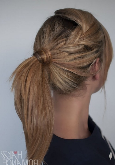 10 Cute Ponytail Hairstyles For 2018: New Ponytails To Try This Pertaining To Most Recently Ponytail Updo Hairstyles For Medium Hair (View 7 of 15)