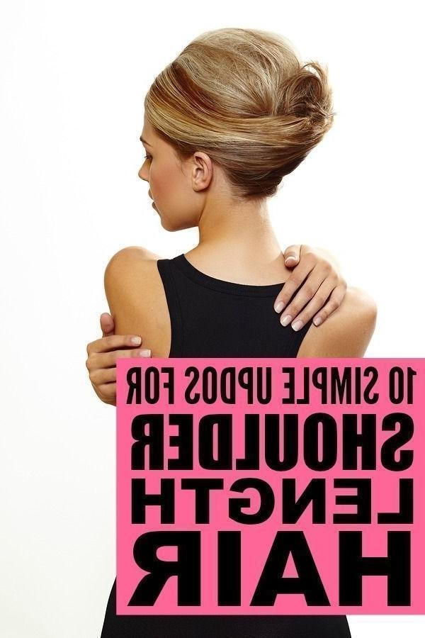 10 Easy (& Glamorous!) Updos For Medium Length Hair | Updo Tutorial Within 2018 Easy Diy Updos For Medium Length Hair (View 14 of 15)