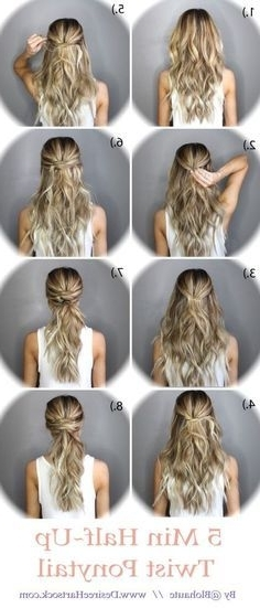 10 Easy Tutorials To Make Wedding Hair | Crown Braid Tutorials Intended For 2018 Diy Half Updo Hairstyles For Long Hair (View 11 of 15)