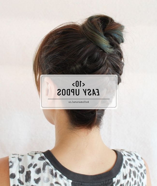 10 Easy Updos You Can Actually Do With 2 Hands | Hello Glow Regarding Most Recently Easy Updos For Medium Thin Hair (View 1 of 15)