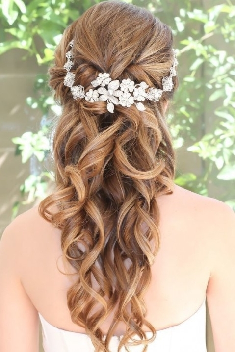 10 Flower Crown Hairstyles For Any Bride – Mywedding Regarding Prom With Regard To Most Recently Updo Hairstyles With Flowers (View 2 of 15)