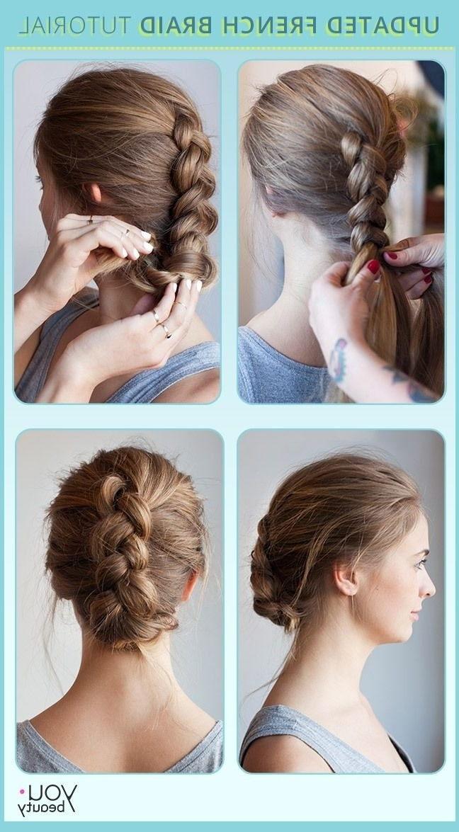10 French Braids Hairstyles Tutorials: Everyday Hair Styles With Most Current Easy Long Hair Updo Everyday Hairstyles (View 1 of 15)