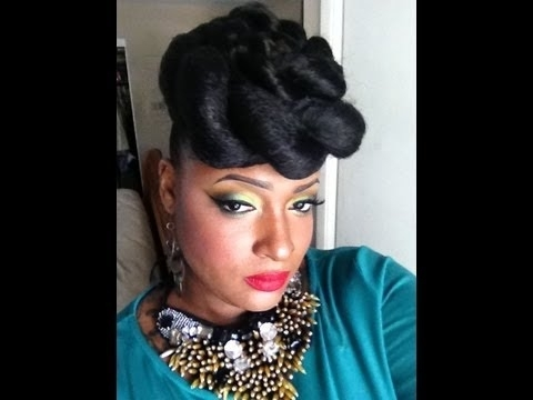 10 Minute Hairdo(Jumbo Twist) – Youtube Regarding Best And Newest Jumbo Twist Updo Hairstyles (View 3 of 15)