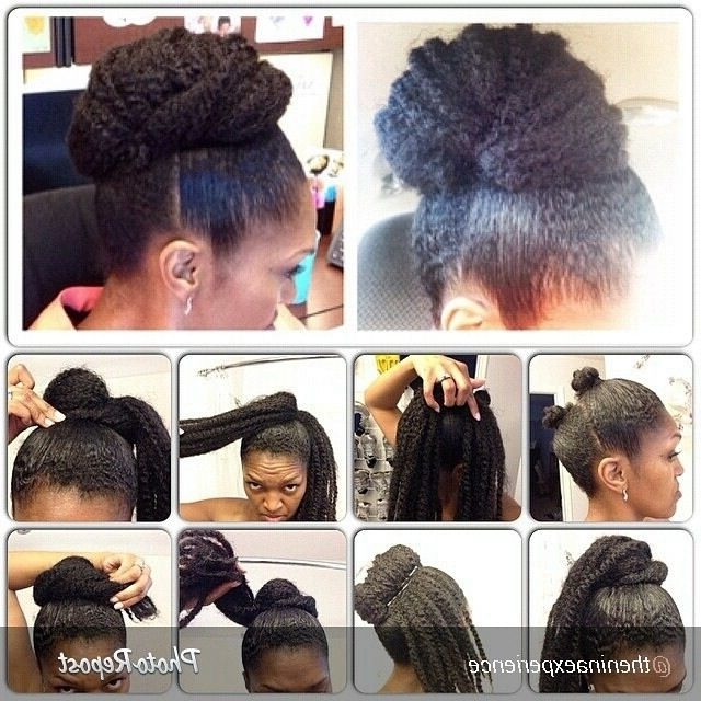 10 More Stunning Natural Hair Pictorials | Marley Hair Bun, Marley For 2018 Updo Hairstyles For Natural Hair With Weave (View 1 of 15)