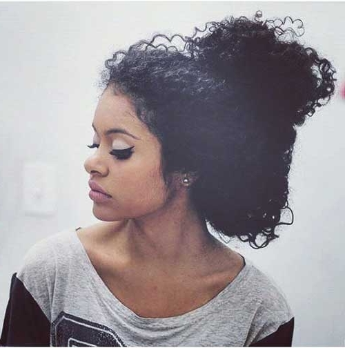 10+ Natural Curly Hairstyles For Black Hair | Hairstyles & Haircuts Throughout Most Popular Natural Curly Updos For Black Hair (View 3 of 15)
