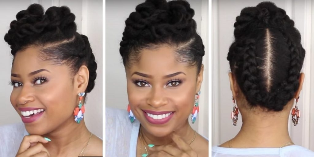 10 Natural Hair Updos For Prom, Wedding And Any Special Occasion With 2018 Natural Hair Updo Hairstyles (View 14 of 15)