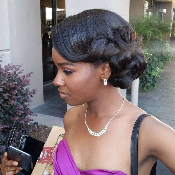 10+ Prom Updo Hairstyles, Ideas   Haircuts   Design Trends – Premium Within 2018 Black Updo Hairstyles For Long Hair (View 10 of 15)