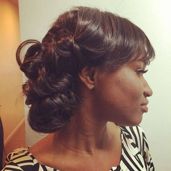 10+ Prom Updo Hairstyles, Ideas | Haircuts | Design Trends – Premium Within Recent Updo Hairstyles With Weave (View 15 of 15)