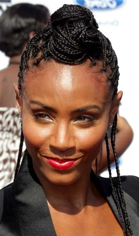10 Stunning Braided Updo Hairstyles For Black Women For Updo With Regard To Latest Cornrow Updo Hairstyles For Black Women (View 9 of 15)