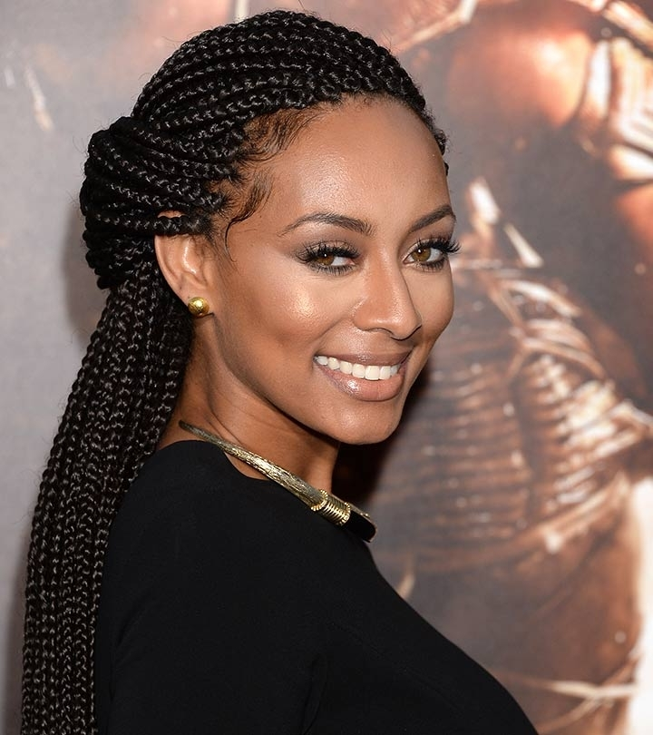 10 Stunning Braided Updo Hairstyles For Black Women Inside Latest Cornrow Updo Hairstyles For Black Women (View 6 of 15)
