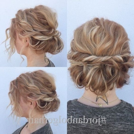 10 Stunning Up Do Hairstyles: 2017 Bun Updo Hairstyle Designs For Inside Latest Cute Updo Hairstyles For Short Hair (View 3 of 15)