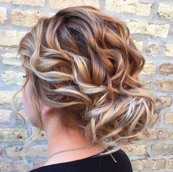 10 Stunning Up Do Hairstyles: 2017 Bun Updo Hairstyle Designs For Women In Most Up To Date Loose Updos For Curly Hair (View 11 of 15)