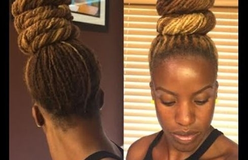10 Stunning Updo Styles For Your Locs | Naturallycurly In Most Up To Date Updo Hairstyles For Long Locs (View 14 of 15)