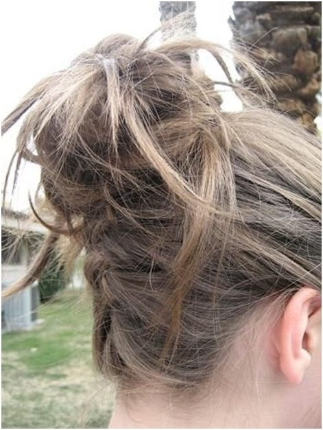 10 Trendy Messy Braid Bun Updos – Popular Haircuts Intended For Most Recently Messy Bun Updo Hairstyles (View 10 of 15)