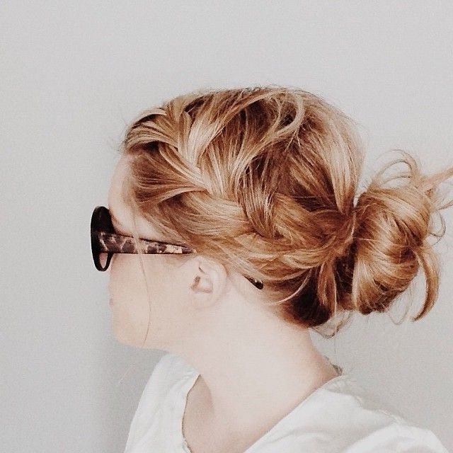 10 Trendy Messy Braid Bun Updos – Popular Haircuts With Regard To Most Recently Everyday Updo Hairstyles For Long Hair (View 2 of 15)