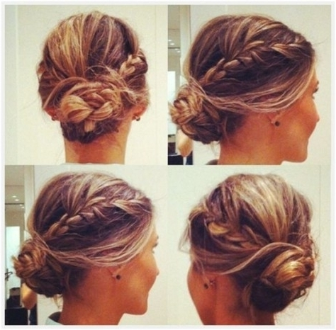 10 Trendy Messy Braid Bun Updos – Popular Haircuts With Wonderful In Latest Braided Bun Updo Hairstyles (View 5 of 15)