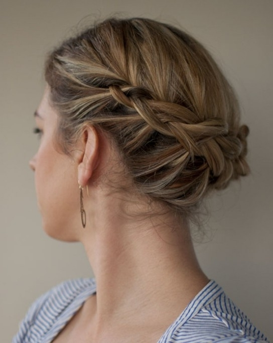 10 Updo Hairstyles For Short Hair – Easy Updos For Women – Pretty For Most Popular Easy Elegant Updo Hairstyles For Thin Hair (View 4 of 15)