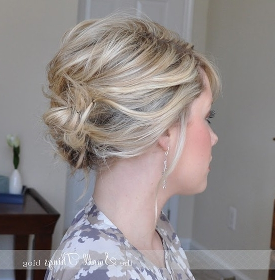 10 Updo Hairstyles For Short Hair – Easy Updos For Women – Pretty With Current Updos For Fine Short Hair (View 1 of 15)
