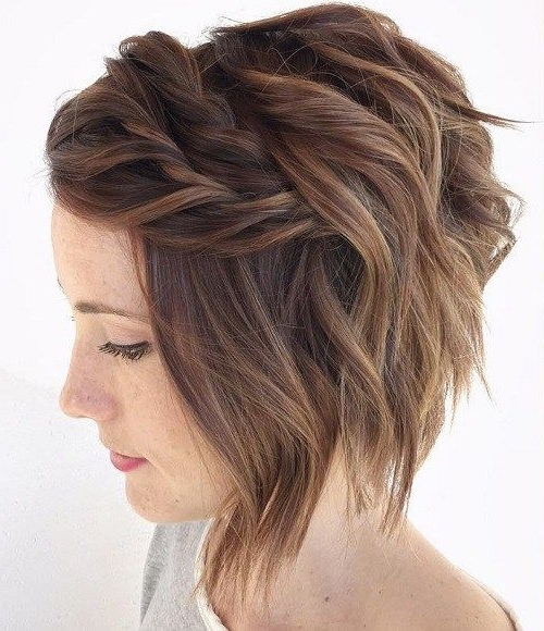 100 Mind Blowing Short Hairstyles For Fine Hair | Wavy Bobs, Thin Within Most Current Updo Hairstyles For Bob Hairstyles (View 5 of 15)