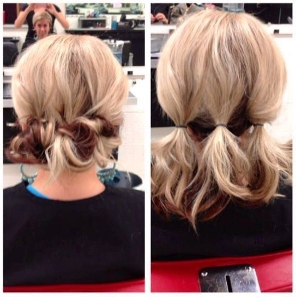 1000 Ideas About Medium Length Updo On Pinterest Fine Hair Updo With Regard To Most Recent Updos For Medium Fine Hair (View 2 of 15)