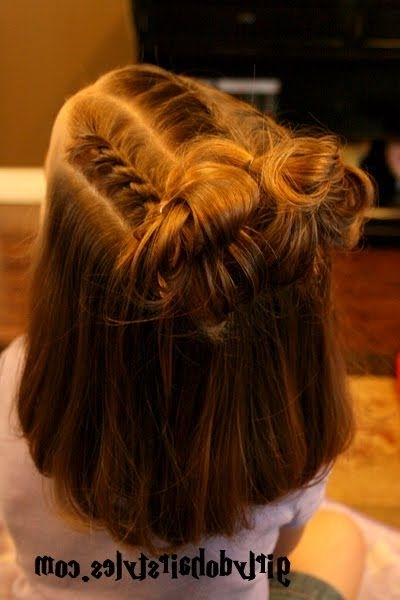 101 Adorable Little Girls Hairstyles | Girl Hair, Messy Buns And Girly Inside Best And Newest Updo Hairstyles For Little Girl With Short Hair (View 10 of 15)