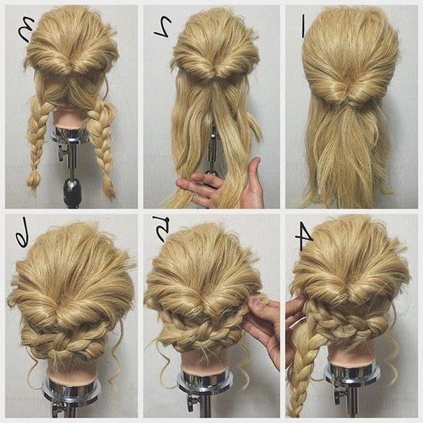 103 Best Braids Images On Pinterest | Hairstyle Ideas, Coiffure With Regard To Current Easy Braid Updo Hairstyles (View 1 of 15)