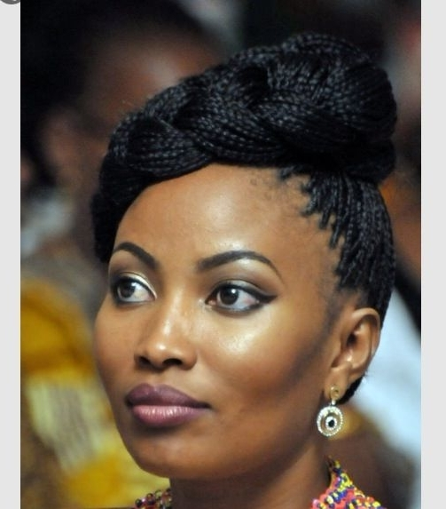 1037 Best Hair Images On Pinterest | African Hairstyles, Haircut In Most Recent Single Braid Updo Hairstyles (View 2 of 15)