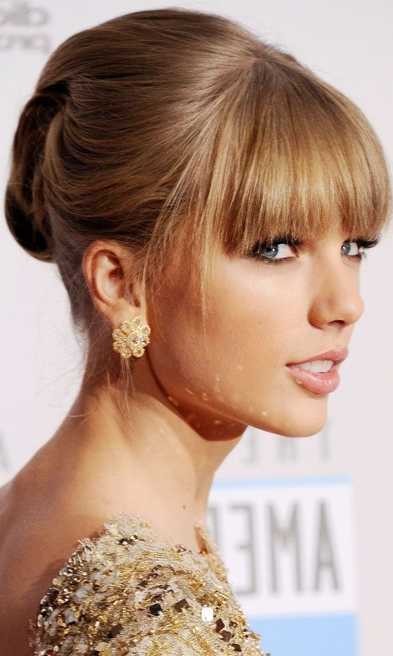 11 Best Updos With Bangs Images On Pinterest | Wedding Hair Styles In Recent Updo Hairstyles With Fringe Bangs (View 14 of 15)