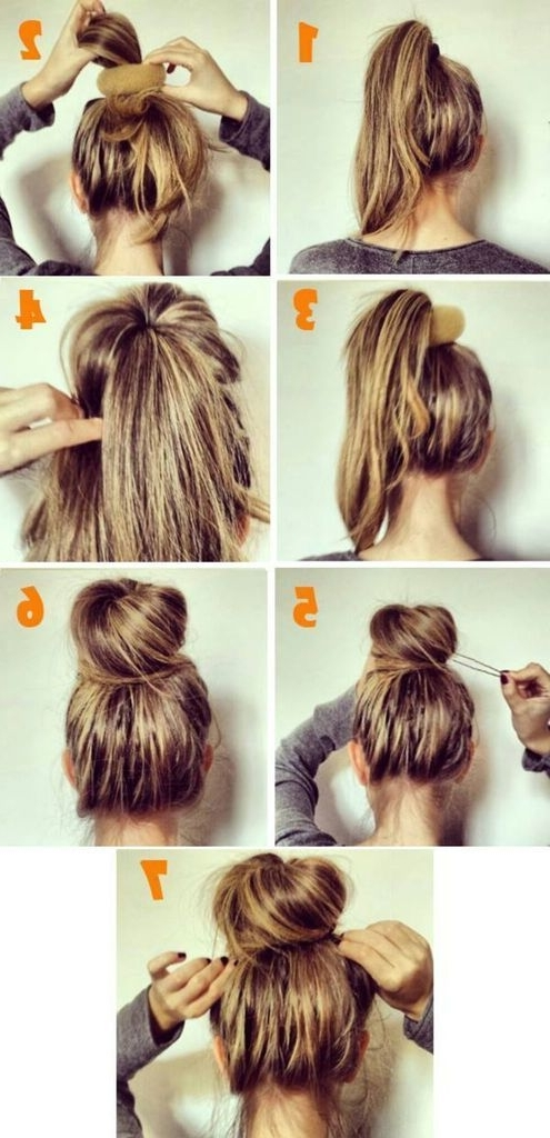 Photos Of Quick Messy Bun Updo Hairstyles Showing 3 Of 15 Photos