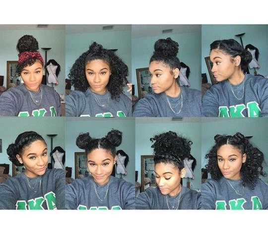 1126 Best Knotssopretty Images On Pinterest | Natural Hair Within Most Up To Date Casual Updos For Naturally Curly Hair (View 12 of 15)