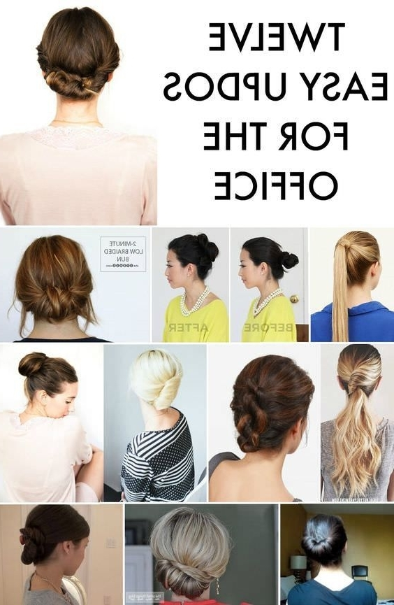 12 Easy Office Updos: Buns, Chignons & More For Busy For Pertaining To Most Recently Professional Updo Hairstyles For Long Hair (View 8 of 15)