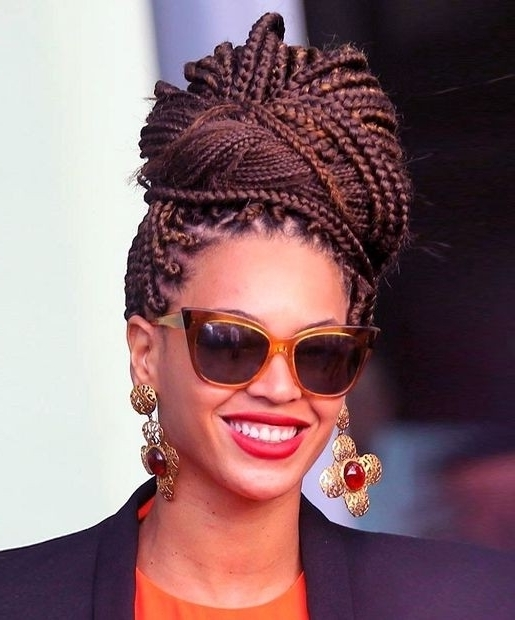 12 Pretty African American Braids – Popular Haircuts Within Most Popular Cute Updos For African American Hair (View 2 of 15)