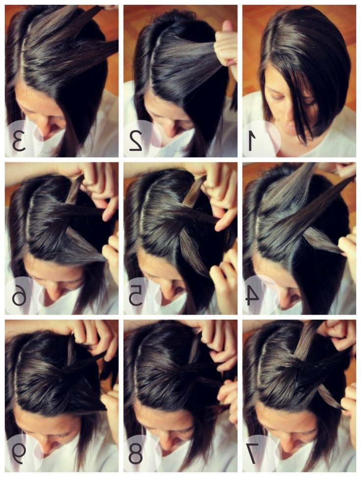 12 Pretty Braided Hairstyles For Short Hair – Pretty Designs Inside Newest Quick Easy Short Updo Hairstyles (View 1 of 15)