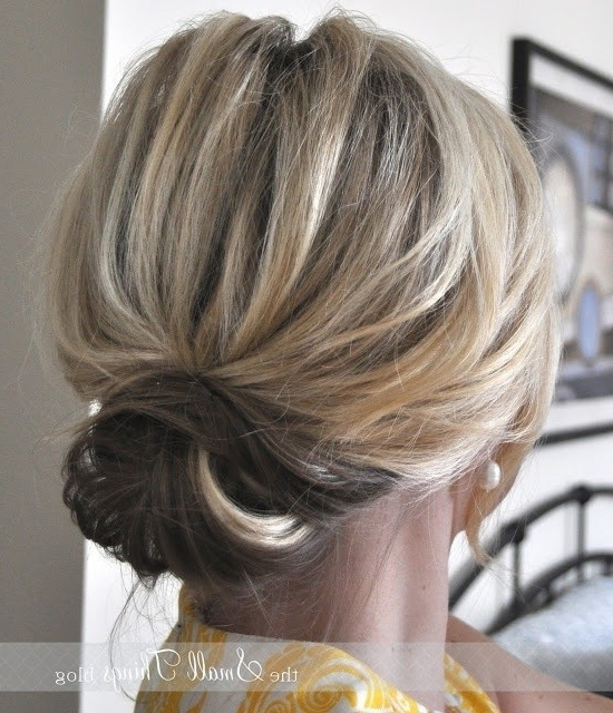 12 Short Updo Hairstyles Ideas: Anyone Can Do – Popular Haircuts With Regard To Current Low Messy Updo Hairstyles (View 13 of 15)