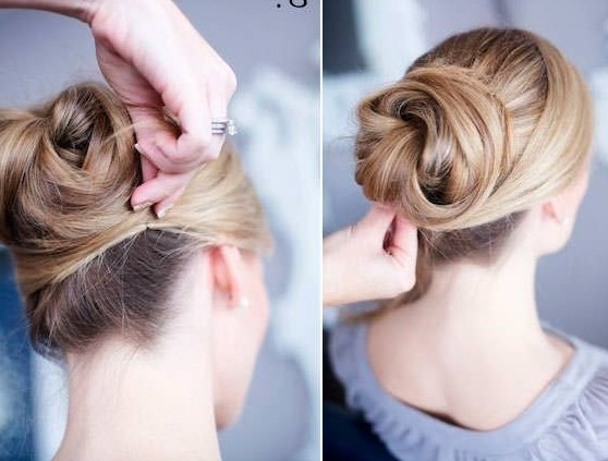12 Trendy Low Bun Updo Hairstyles Tutorials: Easy Cute – Popular Within Current Updo Low Bun Hairstyles (View 1 of 15)